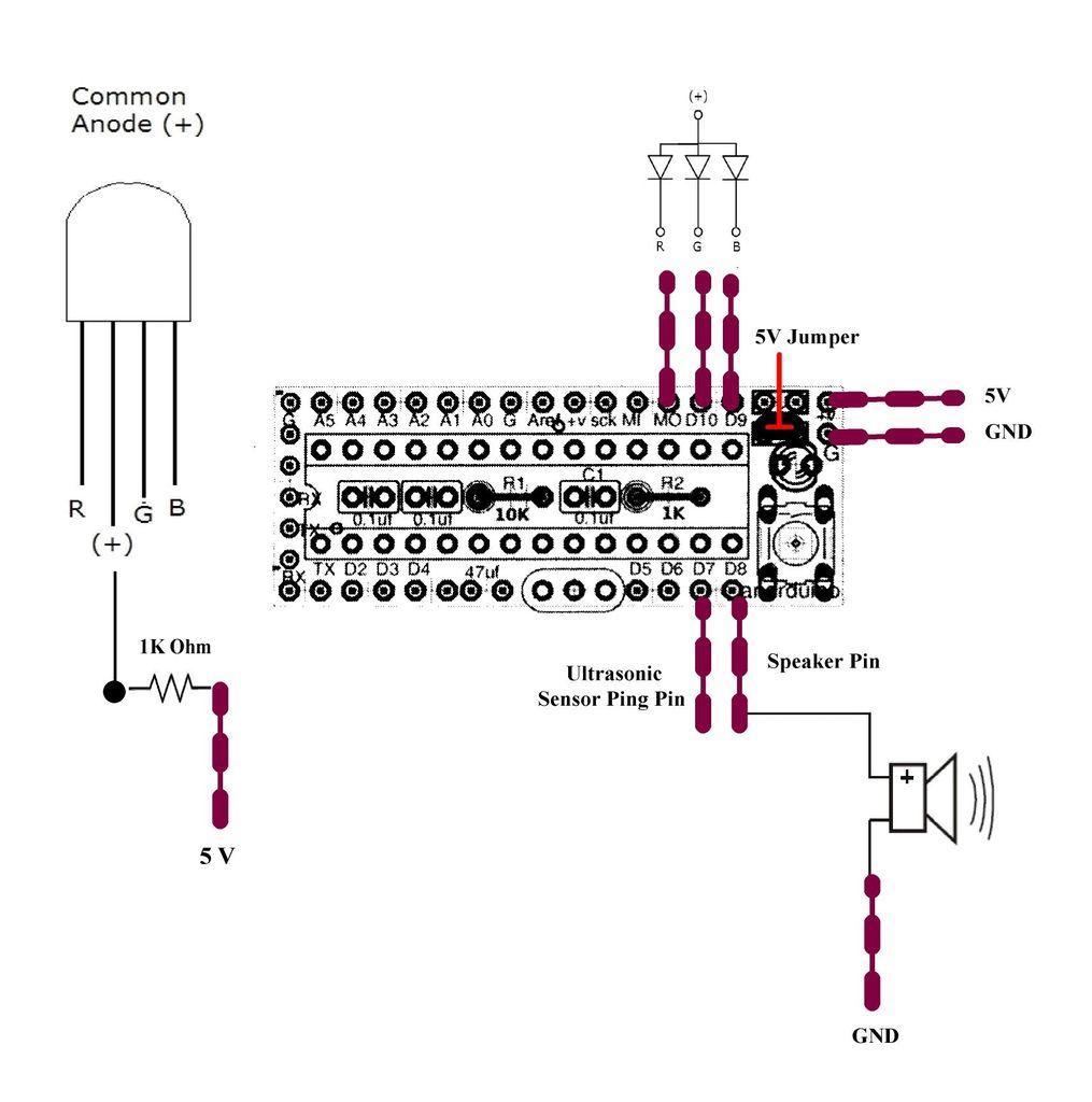 arduino wiring rgb led resistor