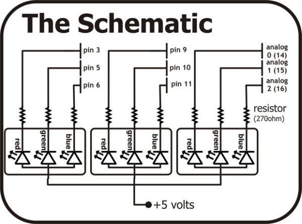 RGB LED Tutorial (using an Arduino) (RGBL) using arduino