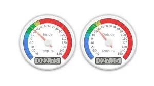 Web Server With Two Temperature Gauges Use Arduino For