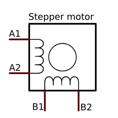4 phase 6 wire stepper motor internal diagram
