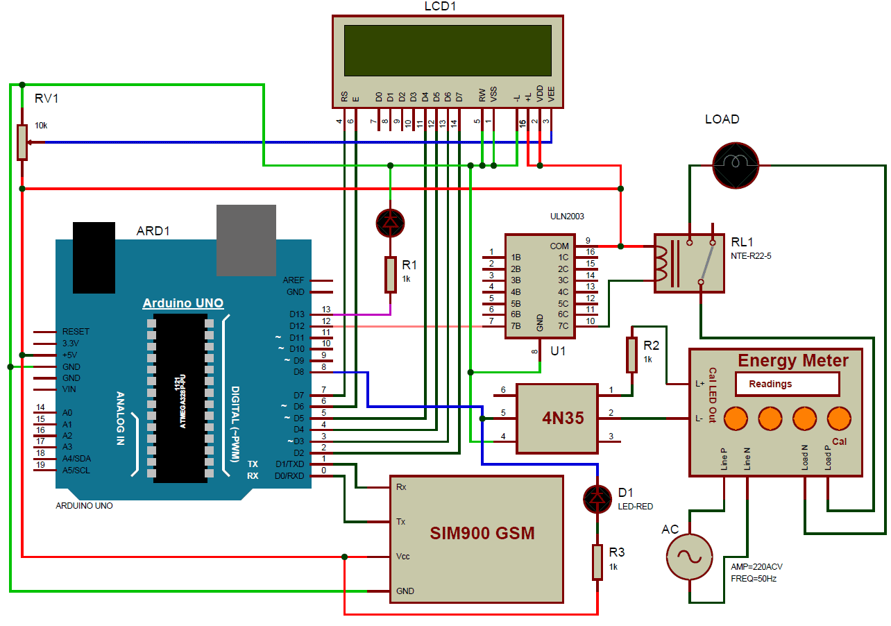 rf tx and rx circuit diagram 240sx headlight wiring prepaid energy meter using gsm arduino use