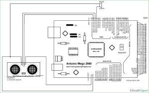 Door Alarm using Arduino and Ultrasonic Sensor schematic