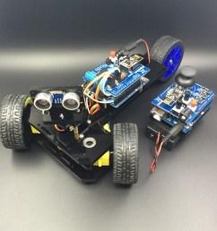 arduino controlled 3 wheeled car duinokit educational electronics learning kits  [ 2448 x 2448 Pixel ]