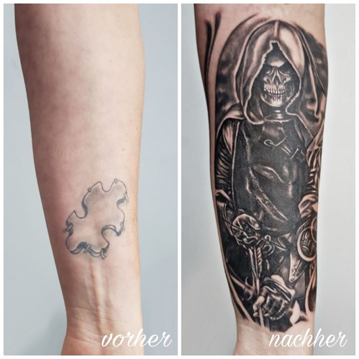 Kleines Cover up < by Calmed Tattoo & Piercing Supply