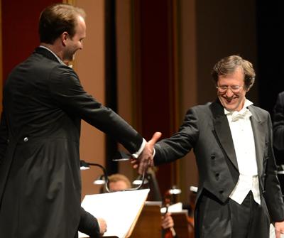 Bariton Richard Šveda, Tenor Sergej Khomov,  Dirigent Wen-Pin Chien Foto: Andreas Köhring