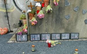 Gedenkstätte für die Opfer der Loveparade 2010 im Februar 2014. Foto: Petra Grünendahl.
