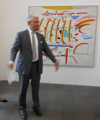 Peter Brünning: Landschaft kartographisch zweidimensional. Foto: Petra Grünendahl.