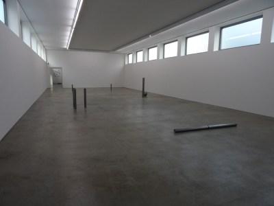 Im Jahr 1994 schuf Hermanns eine Plastik, die den großen Raum des Düsseldorfer Kunstvereins zusammenfasste. Eine detaillierte Zeichnung ermöglichte den maßstabsgerechten Aufbau im Museum DKM. Foto: Petra Grünendahl.