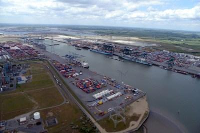 Deurganck-Dock in Antwerpen. Foto: Antwerp Port Authority.