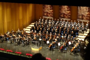 Weihnachtskonzert 2015 mit dem Polizeichor Duisburg 1928 e. V., dem Frauenchor der Polizei Duisburg 1983 e. V. und dem Orchester Oberhausen. Foto: Petra Grünendahl.