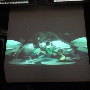 Eine 360-Grad-Visualisierung aus dem Innenraum eines Autos. Foto: Petra Grünendahl.