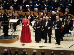 Die Solisten beim Weihnachtskonzert 2016 (v. l.): Antje Bitterlich, Conny Herrmann, Klaus Hermann und Wolfram Wittekind. Foto: Petra Grünendahl.