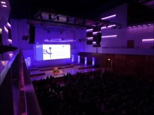 IHK-Neujahrsempfang mit über 800 geladenen Gästen aus Wirtschaft, Politik, Verwaltung und Gesellschaft in der Duisburger Mercatorhalle. Foto: Petra Grünendahl.