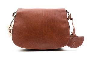 Tan Leather Saddle Bag