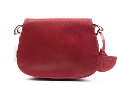 Red Leather Saddle Bag