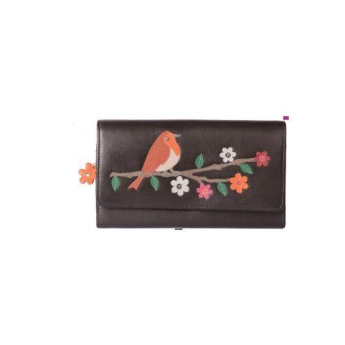 Robin Black Leather Wallet