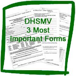 Florida DHSMV 3 Most Important Forms