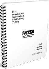1987 DWI Detection and Field Sobriety Test Student Manual