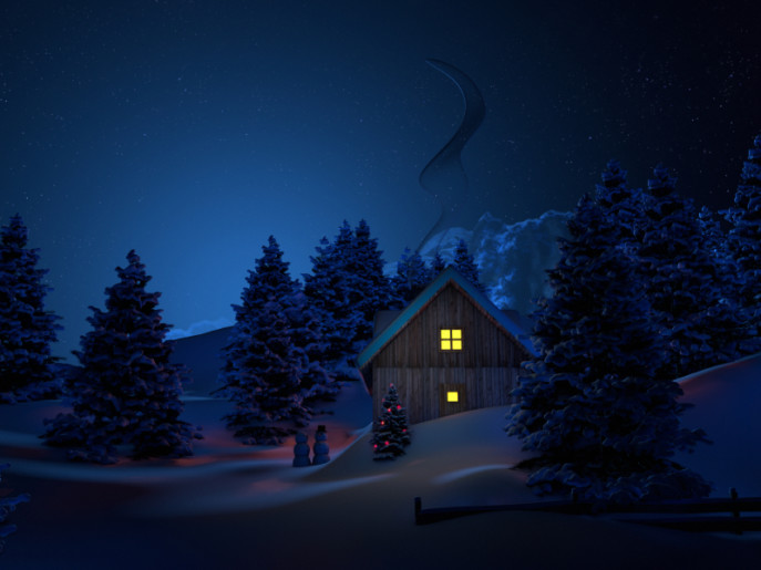 Snow Falling At Night Wallpaper T Was The Night Mare Before Christmas Holistic House