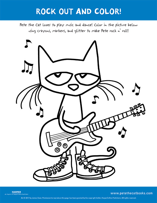 Pete The Cat Coloring Pages : coloring, pages, Color