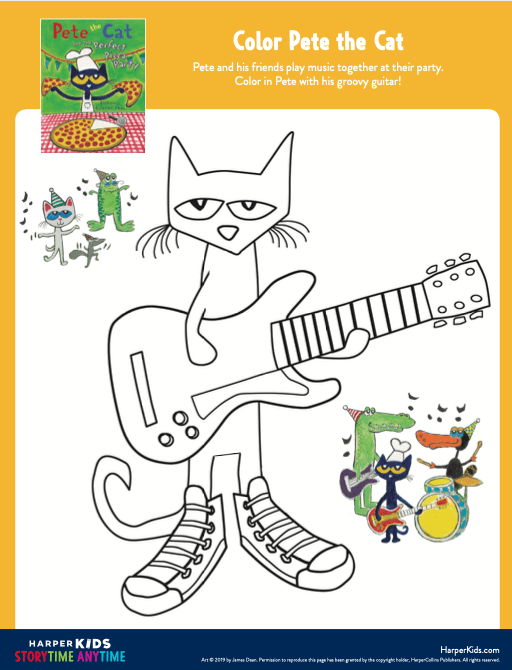 Pete The Cat Coloring Pages : coloring, pages, Activities, PeteTheCatBooks.com