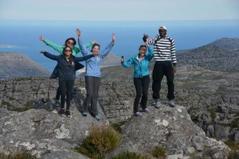 The Cape Town crew group 1 on top of Table Mountain!