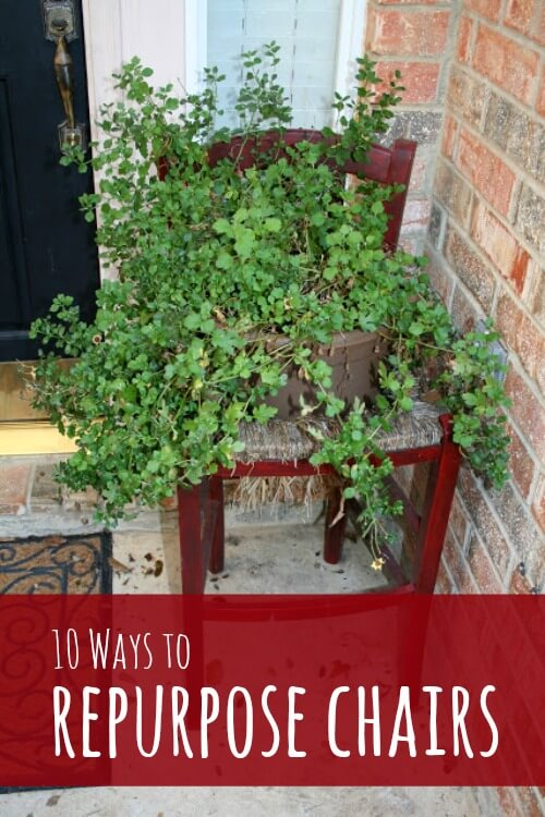 folding chair upcycle 8 round table size 10 ways to repurpose old chairs - dukes and duchesses