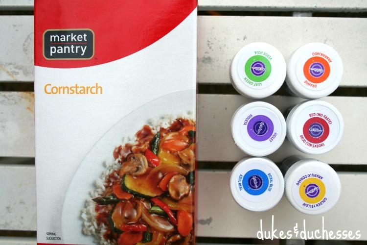 supplies for DIY color powder