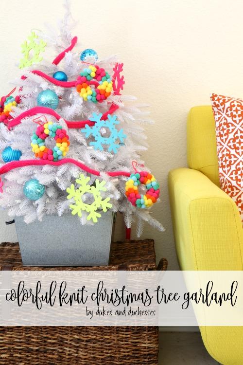 Knit Christmas Tree Ornaments