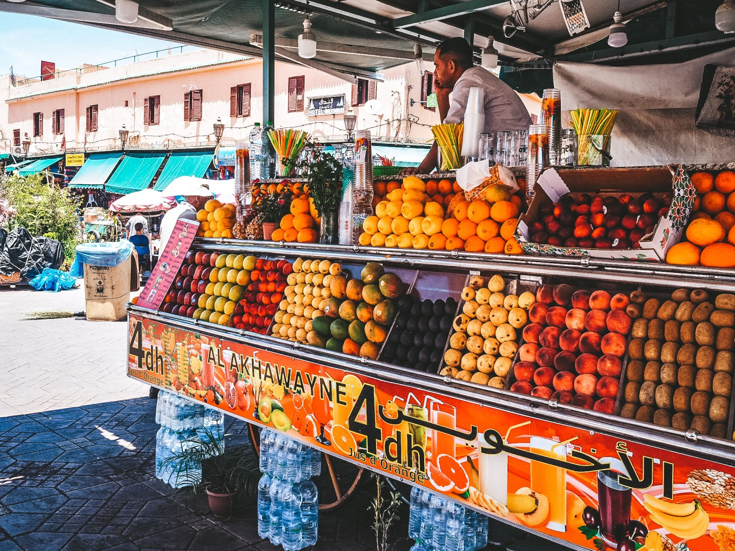 A Fruit Stand in Marrakesh