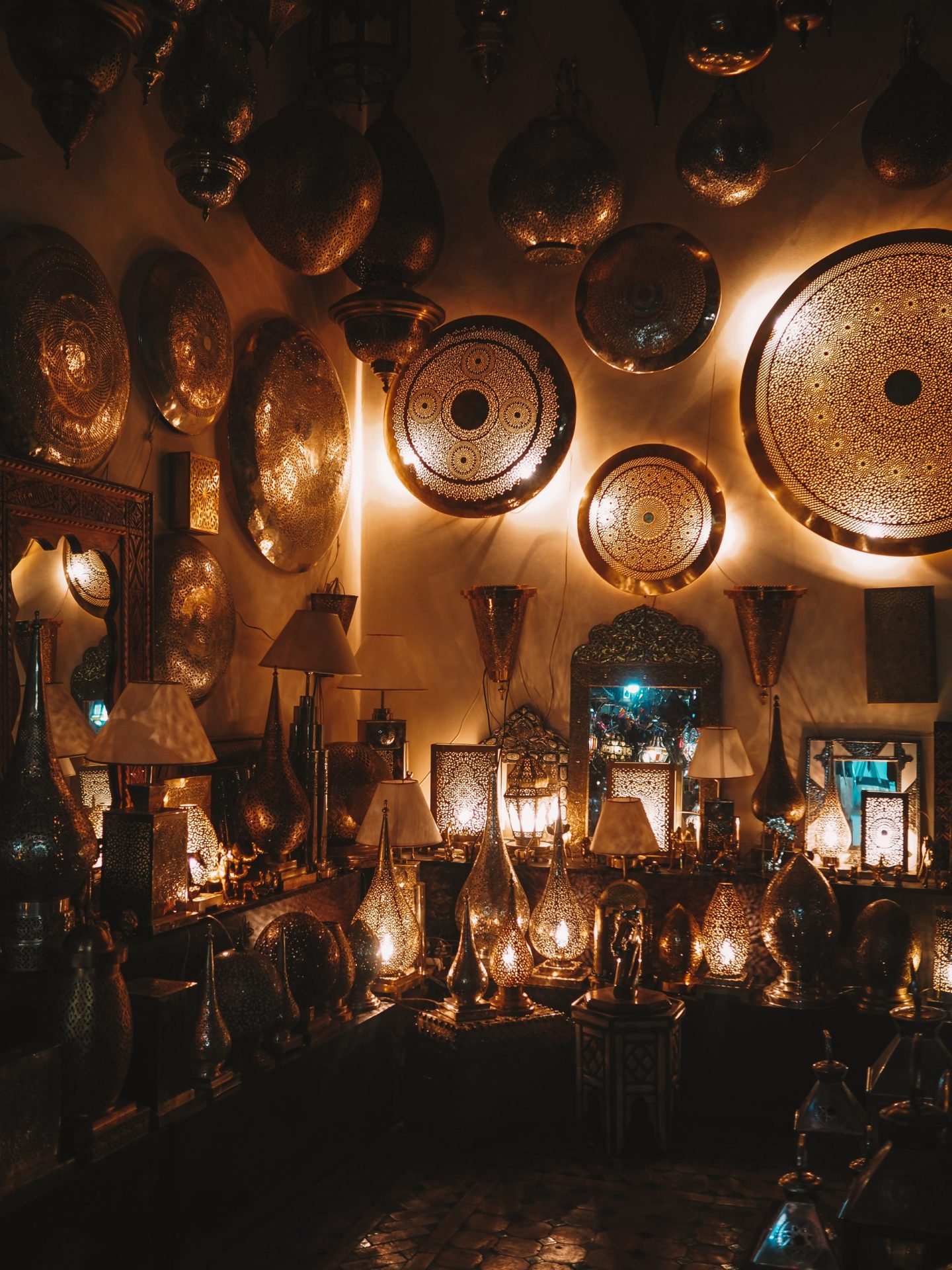 Lantern shop in Marrakesh