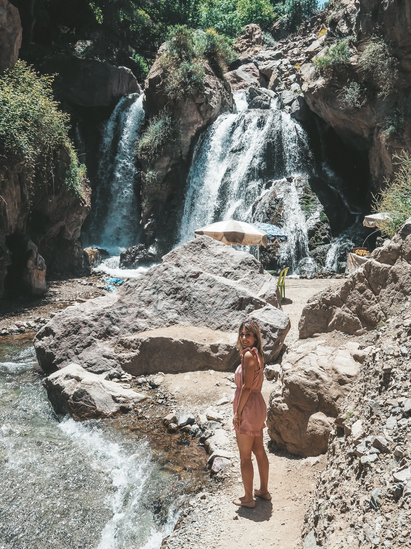 Come away with me on a tour of the Atlas Mountains just an hour and a half outside of Marrakech, in Berber territory, Morocco.  Featuring some beautiful shots of waterfalls and Imlil valley. #morocco #atlasmountains #marrakech #berber