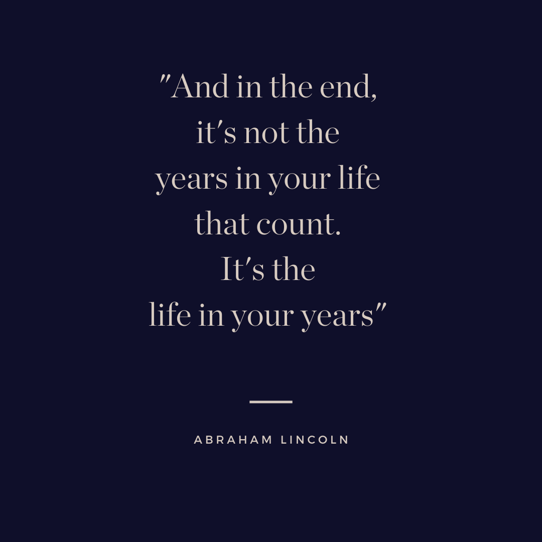 Live life to the fullest quote