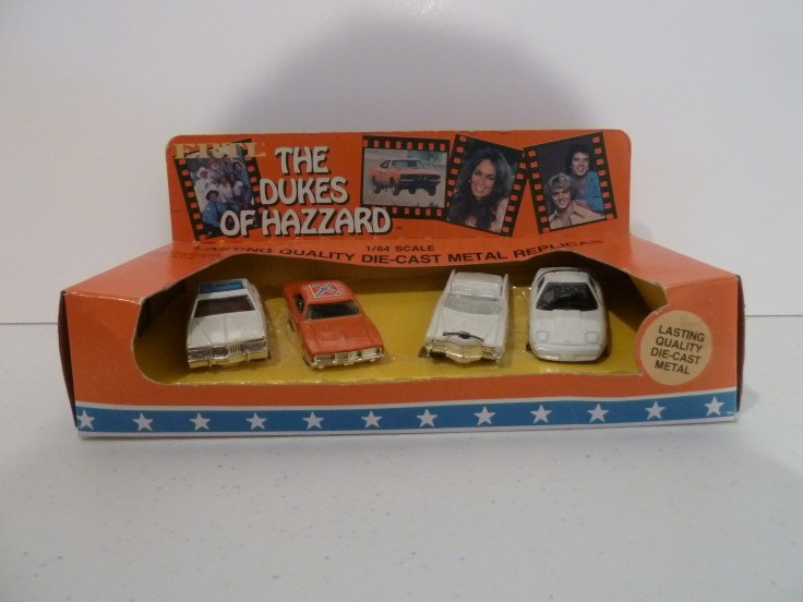 Ertl 4 Car Set - Police, General, Caddy, Corvette