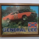 General Lee Framed Picture (with flag)