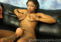 Jaime squeezes her big tits