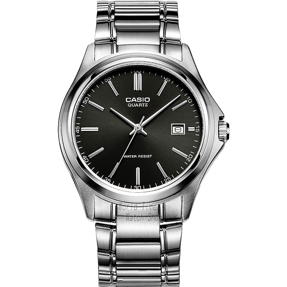 a64cce7cce2 Classic Black Mens Stainless Steel Watch by CASIO