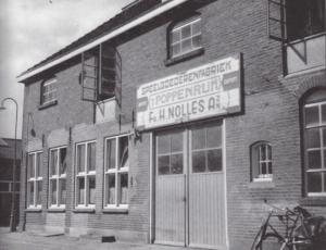 Fabrikkens facade i Steenwijk!