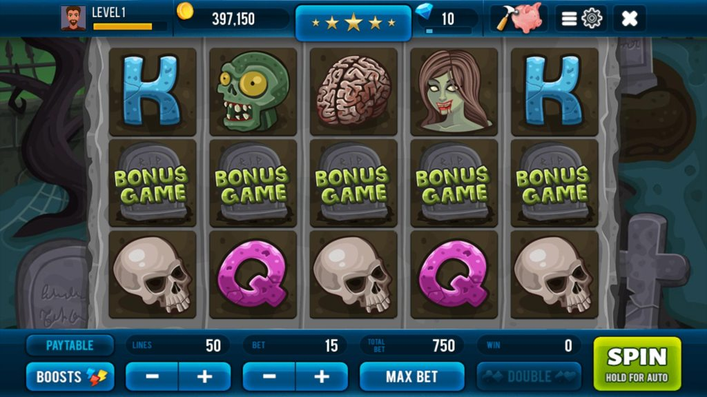 Zombie Free Slot Machine Screen #1