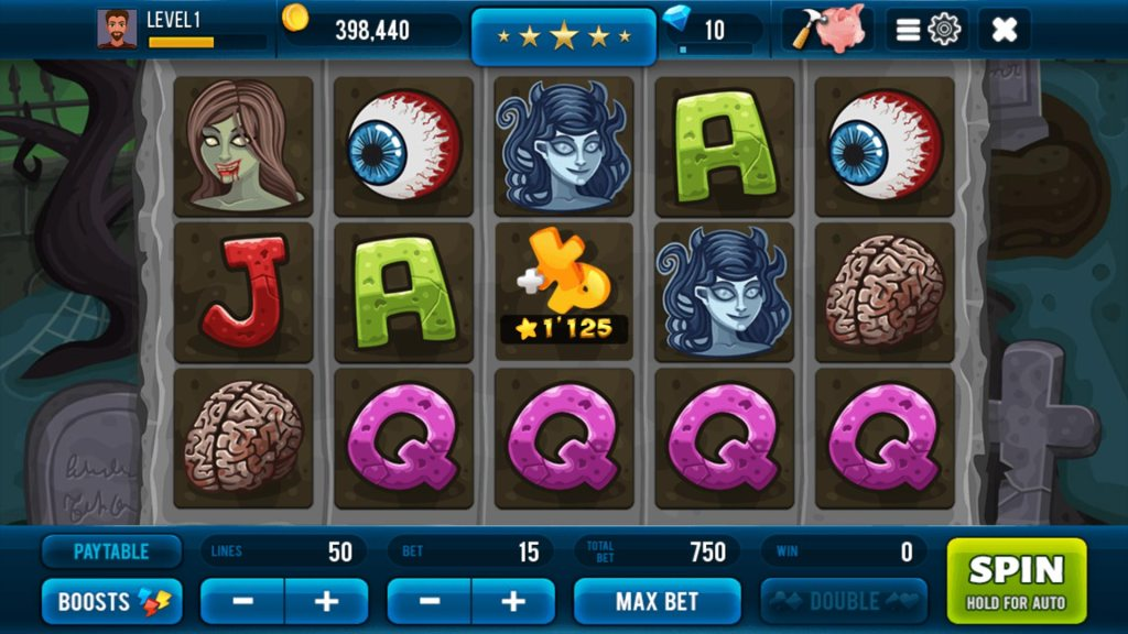 Zombie Free Slot Machine Screen #2