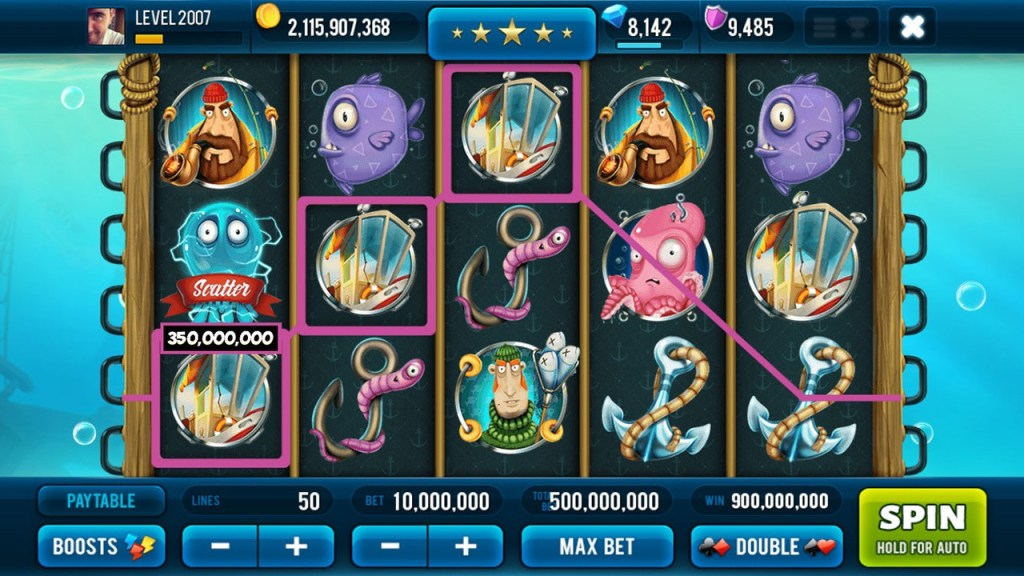Screen 1: Big Catch Slots - Free Casino Game
