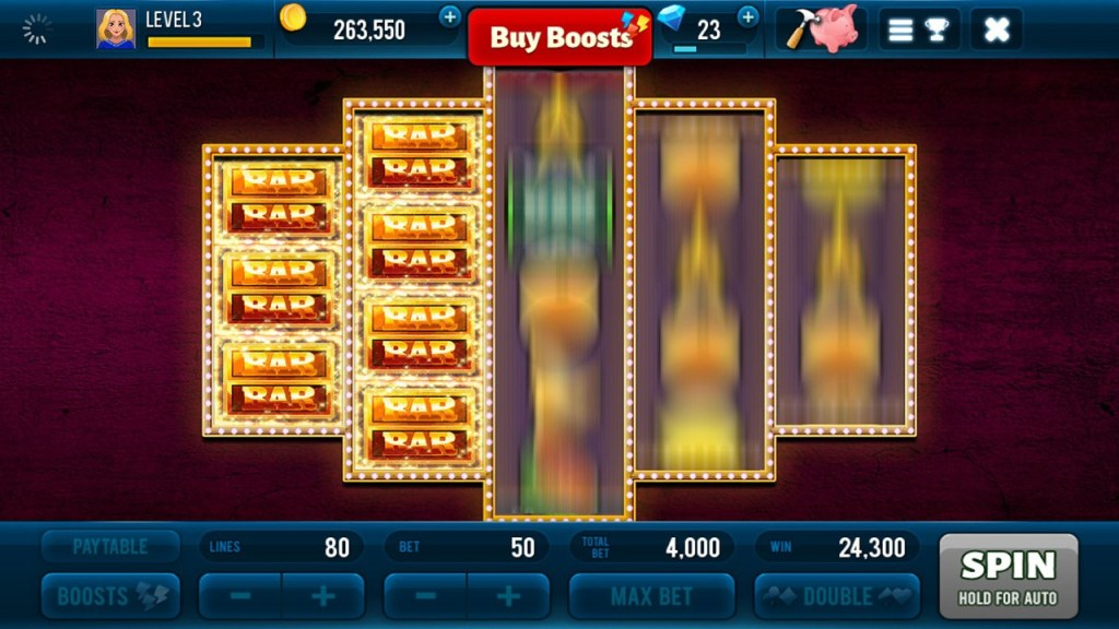 Golden Bars Slots Screen 1