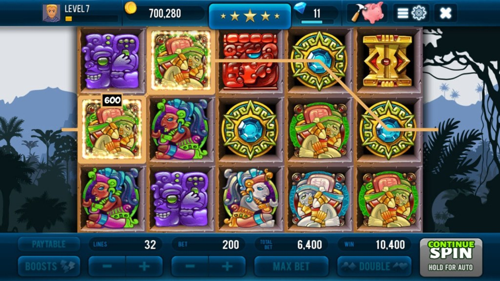 Aztec Lost Empire Slots Screen 1
