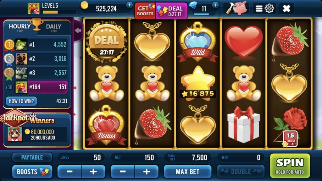 Romantic Spin Slots Machine Screen 3