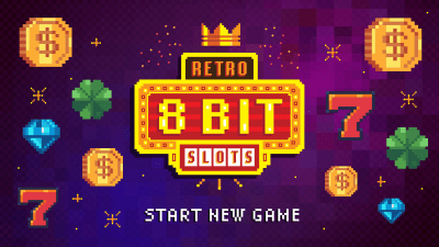 8-bit Retro Slot Machine