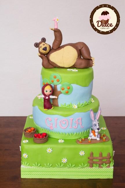 Torta compleanno Masha e orso