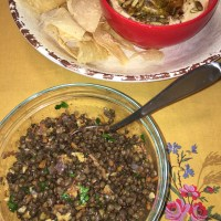 CtBF - lentil salad (and a hummus make-up)