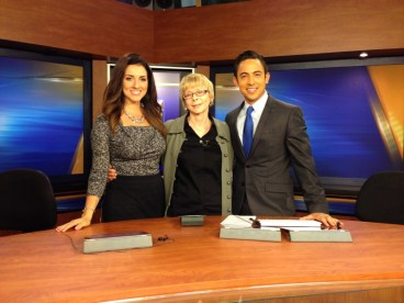 Dulcie with Shirin Rajaee and Tony Cabrera on KCOY Santa Barbara