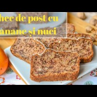 Chec de post cu banane și nuci (Banana Bread) - rețetă VIDEO