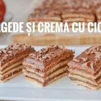 Prăjitură cu foi fragede și cremă cu ciocolată - rețetă VIDEO